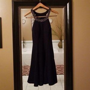 Betsy Adam Blue sparkle cocktail dress